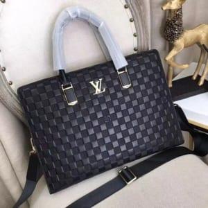 Tuí xách nam Louis Vuitton siêu cấp họa tiết ô vuông dập nổi