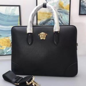 Túi xách nam Versace siêu cấp da nhăn họa tiết logo