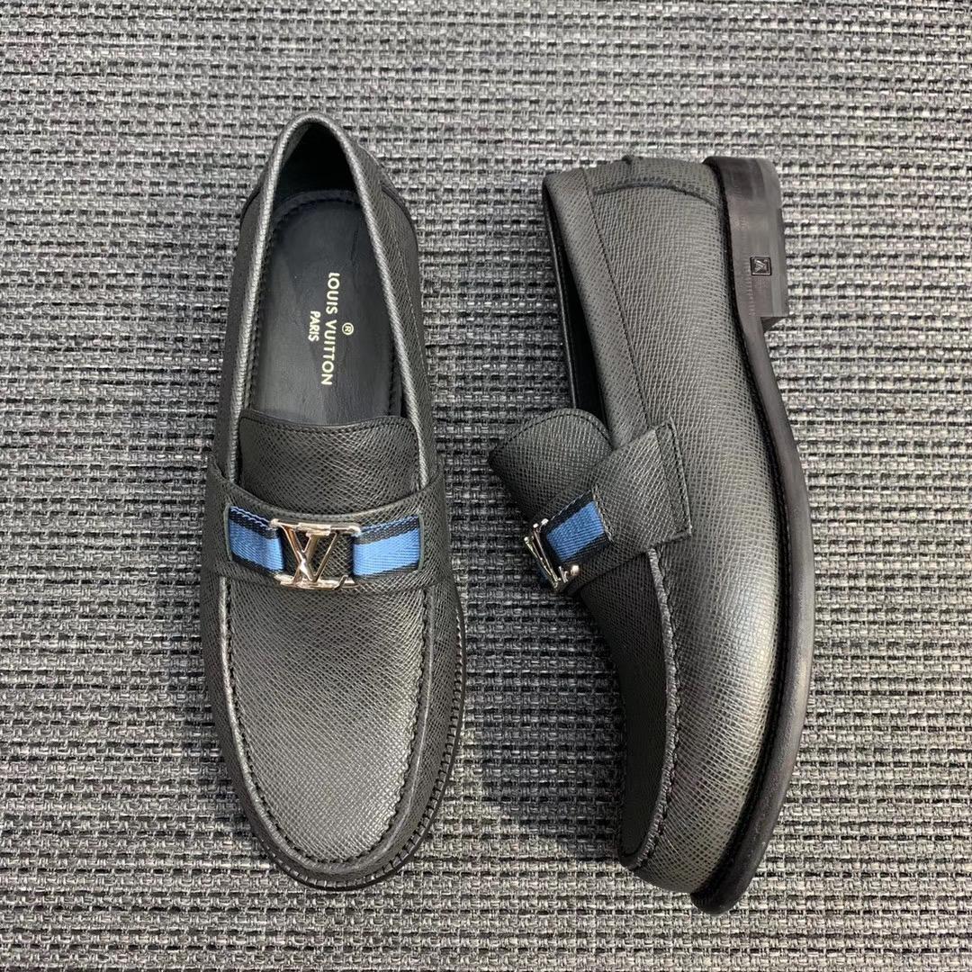 Giày lười Louis Vuitton bản Like Au 1:1 màu ghi gllv86