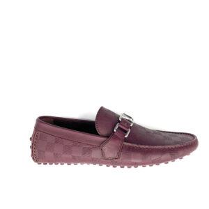 Giày lười Louis Vuitton bản like auth 1:1 màu đỏ đô