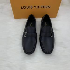 Giày lười Louis Vuitton siêu cấp họa tiết tag lệch
