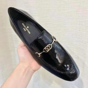 Giày lười Louis Vuitton like au đế cao da bóng GLLV14