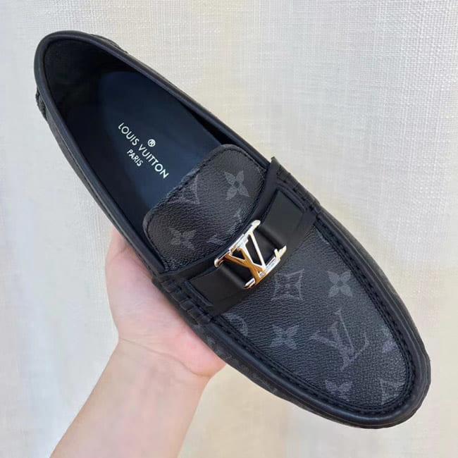 Giày lười Louis Vuitton bản Like Au họa tiết hoa GLLV04