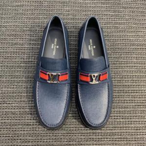 Giày lười Louis Vuitton màu xanh bản Like Au 1: 1