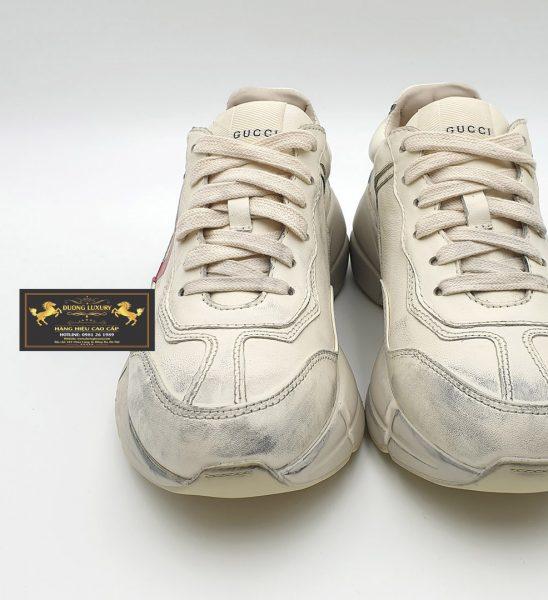 Giày nam Gucci White Mouth Rhyton môi bẩn siêu cấp Replica