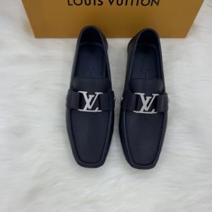 Giày lười Louis Vuitton màu xanh bản chuẩn Like Au 1:1 GLLV19