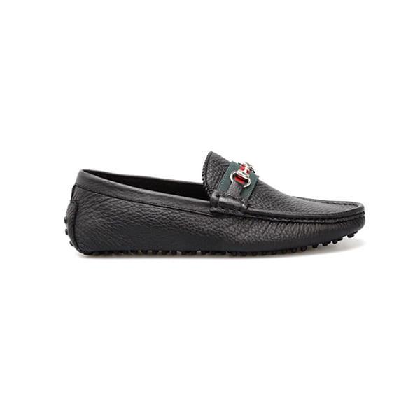 Giày lười Gucci bản siêu cấp họa tiết da nhăn GLGC01