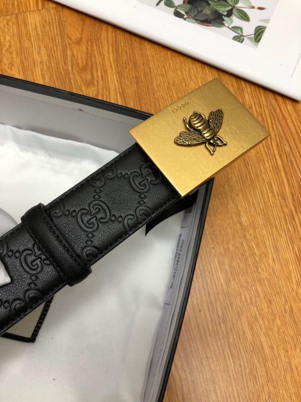 Thắt lưng nam Gucci họa tiết logo mặt khóa ong TLGC67