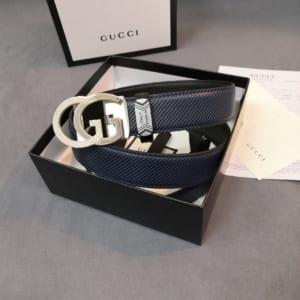 Thắt lưng nam Gucci khóa chữ g kép màu trắng TLGC70