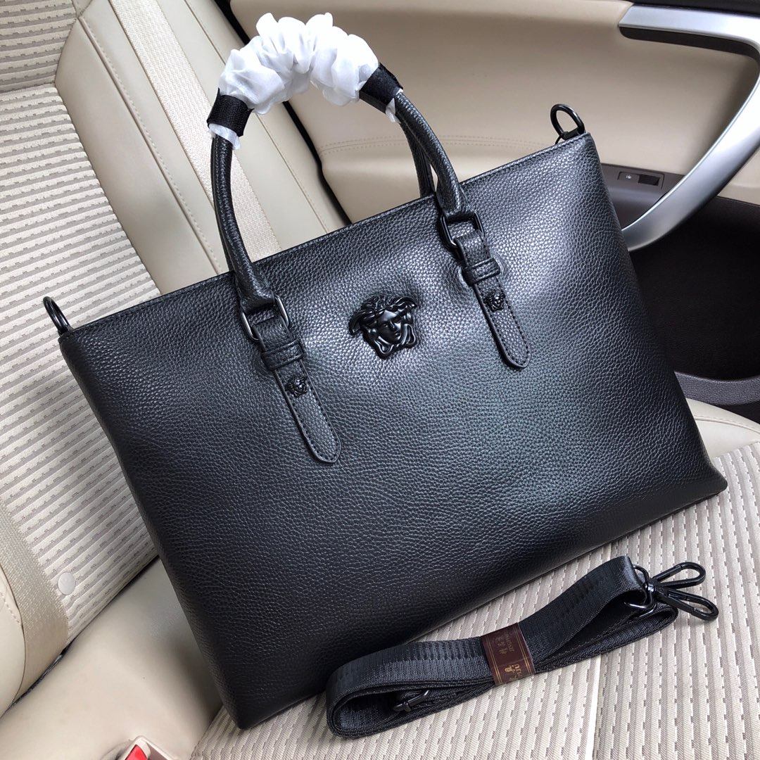 Túi xách nam Versace họa tiết da nhăn màu đen TXVS05 siêu cấp like ...