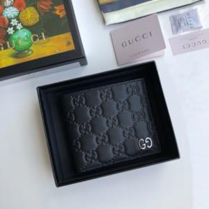 Ví nam Gucci siêu cấp bỏ túi họa tiết dập logo VNG93
