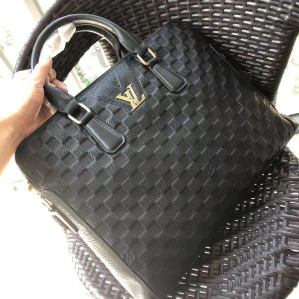 Túi xách nam Louis Vuitton siêu cấp da dập họa tiết kẻ ô TXLV16