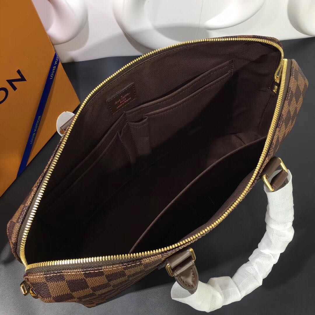 Túi xách nam Louis Vuitton họa tiết caro màu nâu TXLV19