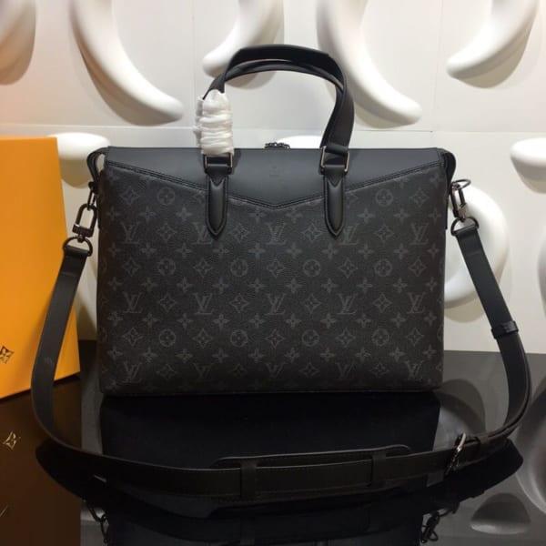 Túi xách nam Louis Vuitton họa tiết hoa đen TXLV18