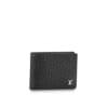 Ví nam Louis Vuitton siêu cấp da taiga họa tiết logo dập nổi VNLV62