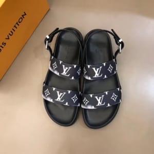 Dép Louis Vuitton siêu cấp nam quai hậu họa tiết loang trắng DLV20