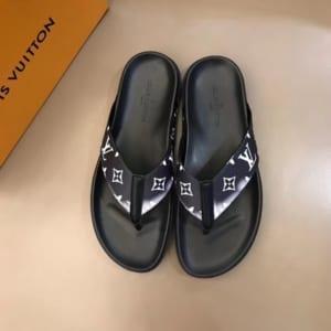 Dép Louis Vuitton siêu cấp nam xỏ ngón họa tiết loang trắng DLV22