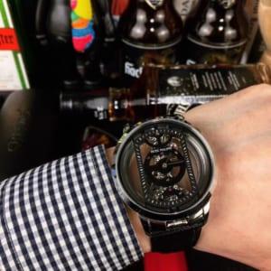 Đồng hồ Patek Philippe siêu cấp nam mặt trong suốt dây da DHP02