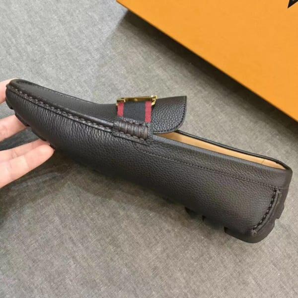 Giày lười Louis Vuitton likeau màu nâu đỏ GLLV100