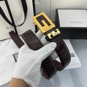 Thắt lưng nam Gucci siêu cấp họa tiết da rạn khóa tự động TLGC73
