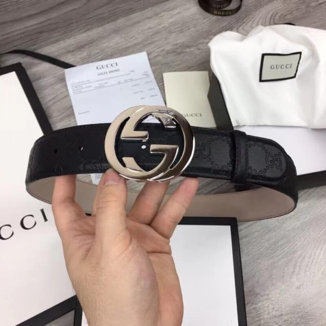 Thắt lưng nam Gucci họa tiết mặt khóa logo chữ G chéo TLGC74