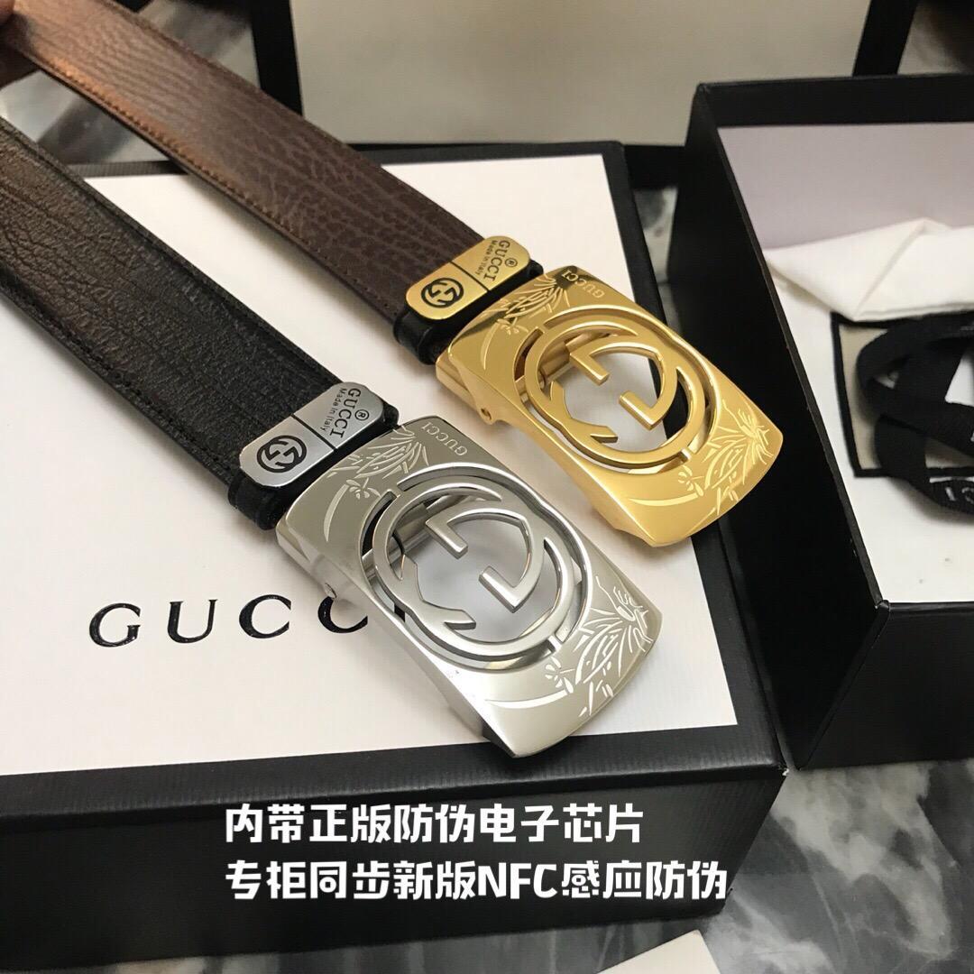 Thắt lưng nam Gucci siêu cấp mặt khóa họa tiết hoa TLGC72