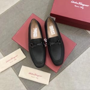 Giày lười Salvatore Ferragamo like au đế cao họa tiết nơ GLSF28
