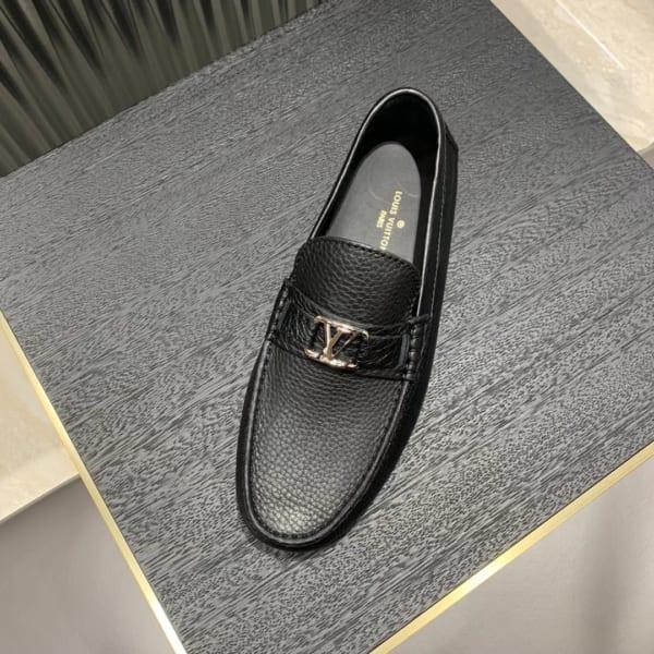 Giày lười Louis Vuitton họa tiết da nhăn GLLV106