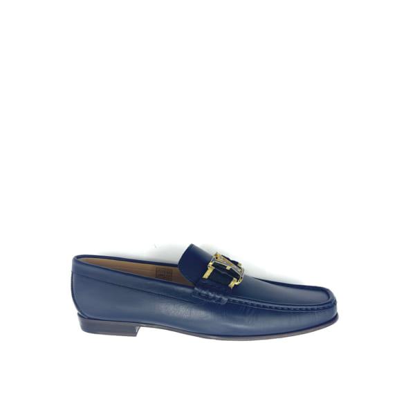 Giày lười Louis Vuitton like auth đế cao họa tiết da lỳ GLLV107