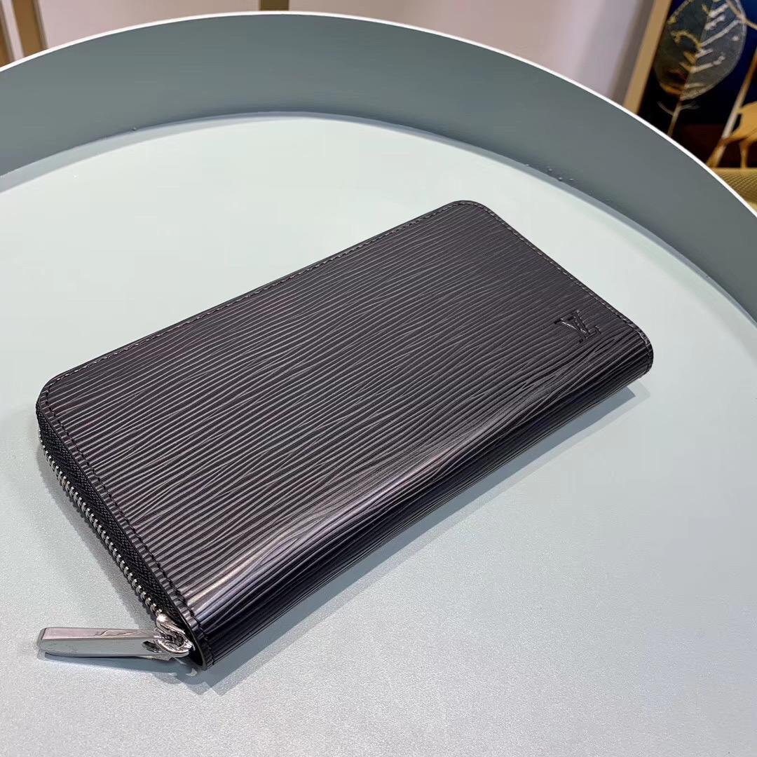 Ví nam Louis Vuitton siêu cấp khóa kéo da epi màu đen VNLV75