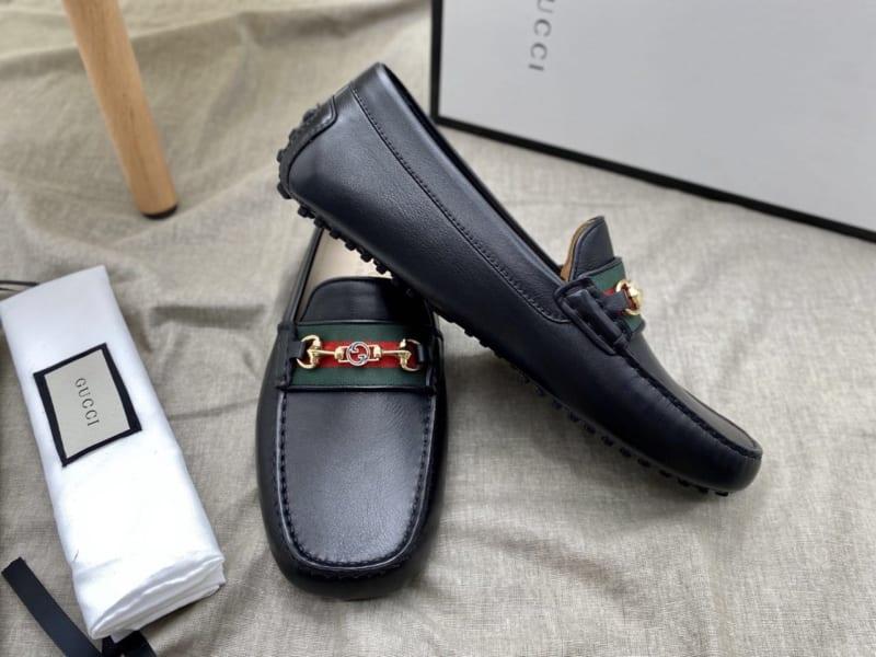 Giày lười Gucci like au họa tiết logo nhỏ GLGC58