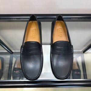 Giày lười Gucci like au họa tiết ong da trơn GLGC56