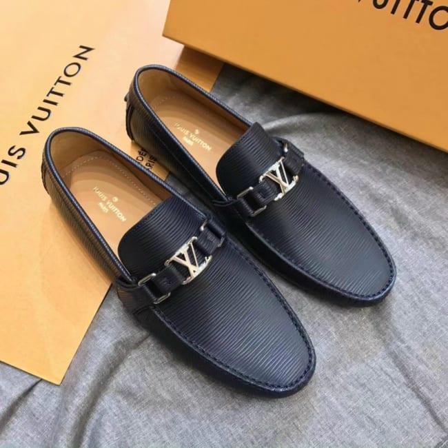 Giày lười Louis Vuitton like au epi đen GLLV110
