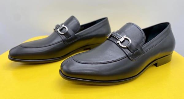 Giày lười Salvatore Ferragamo like au đế cao da trơn GLSF29