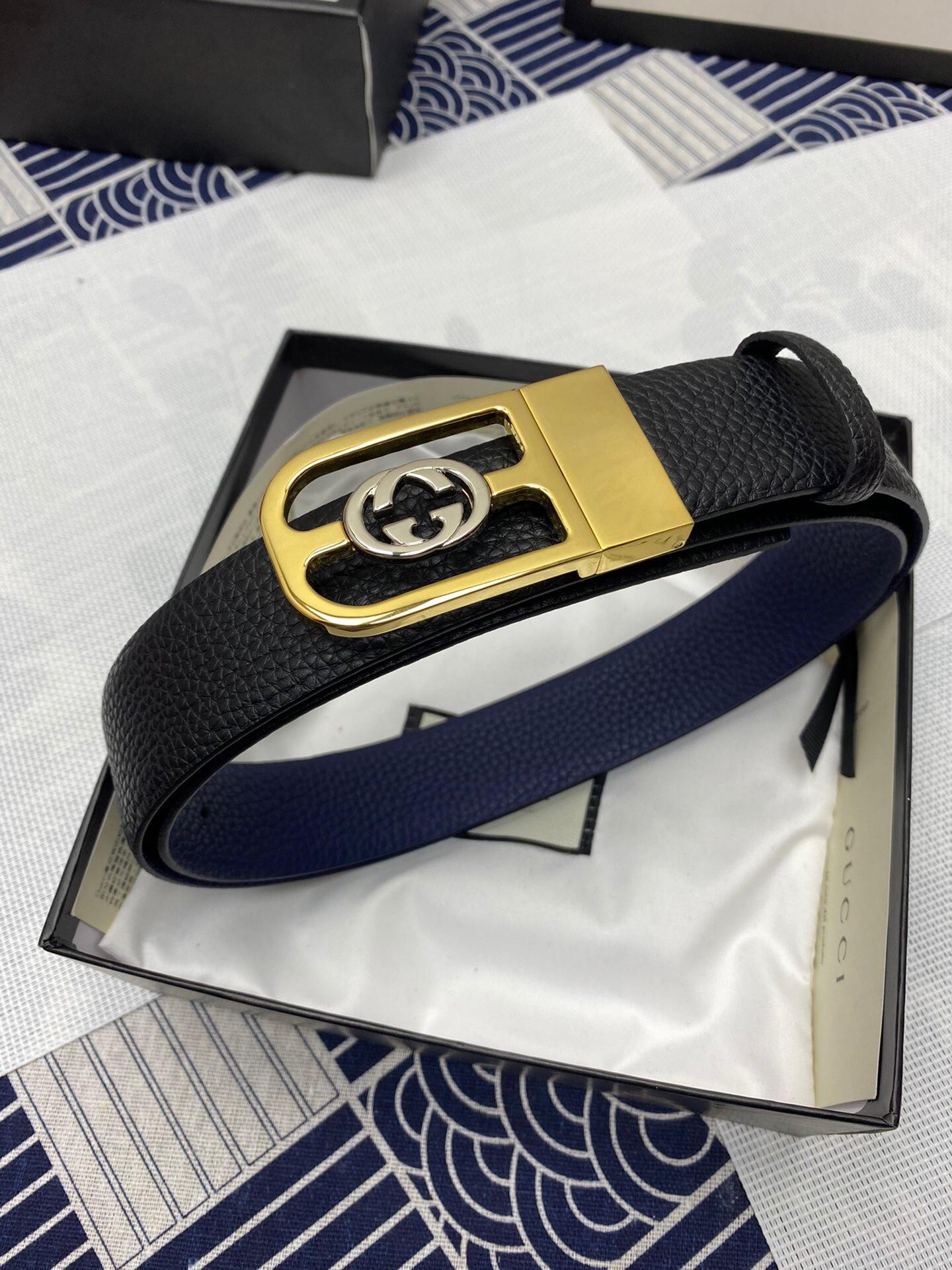 Thắt lưng nam Gucci siêu cấp mặt khóa chữ U logo nhỏ TLGC75