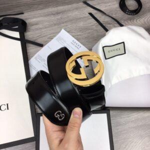 Thắt lưng nam Gucci siêu cấp họa tiết chữ G kép tròn TLGC77