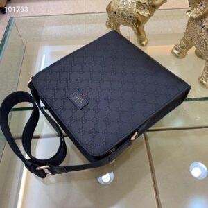 Túi đeo chéo Gucci siêu cấp họa tiết logo đen TDCGC18