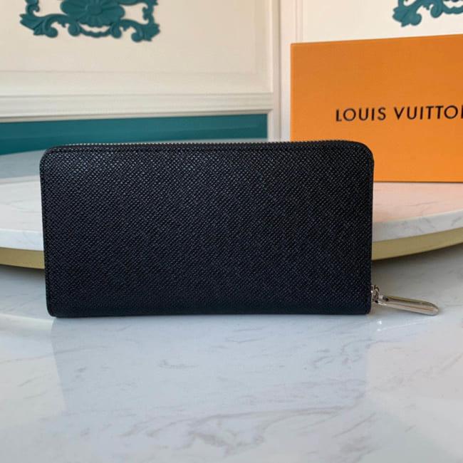 Ví nam Louis Vuitton like au khóa kéo logo dập chìm VNLV78