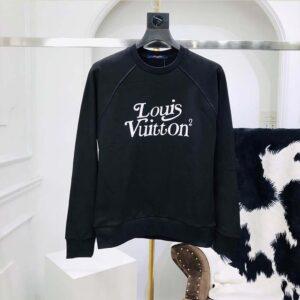 Áo nam Louis Vuitton siêu cấp nỉ họa tiết chữ AOLV01