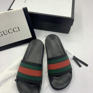 Dép Gucci siêu cấp nam quai ngang họa tiết ba màu DGC06