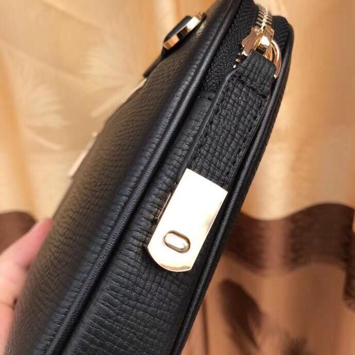 Ví nam Versace siêu cấp cầm tay hình hộp hoạ tiết logo VNVS18