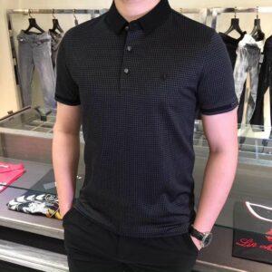Áo Dior nam siêu cấp hoạ tiết nhện màu kẻ đen AODO03