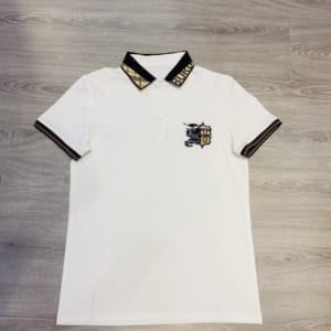 Áo phông Burberry siêu cấp hoạ tiết ngựa viền cổ logo APLV01