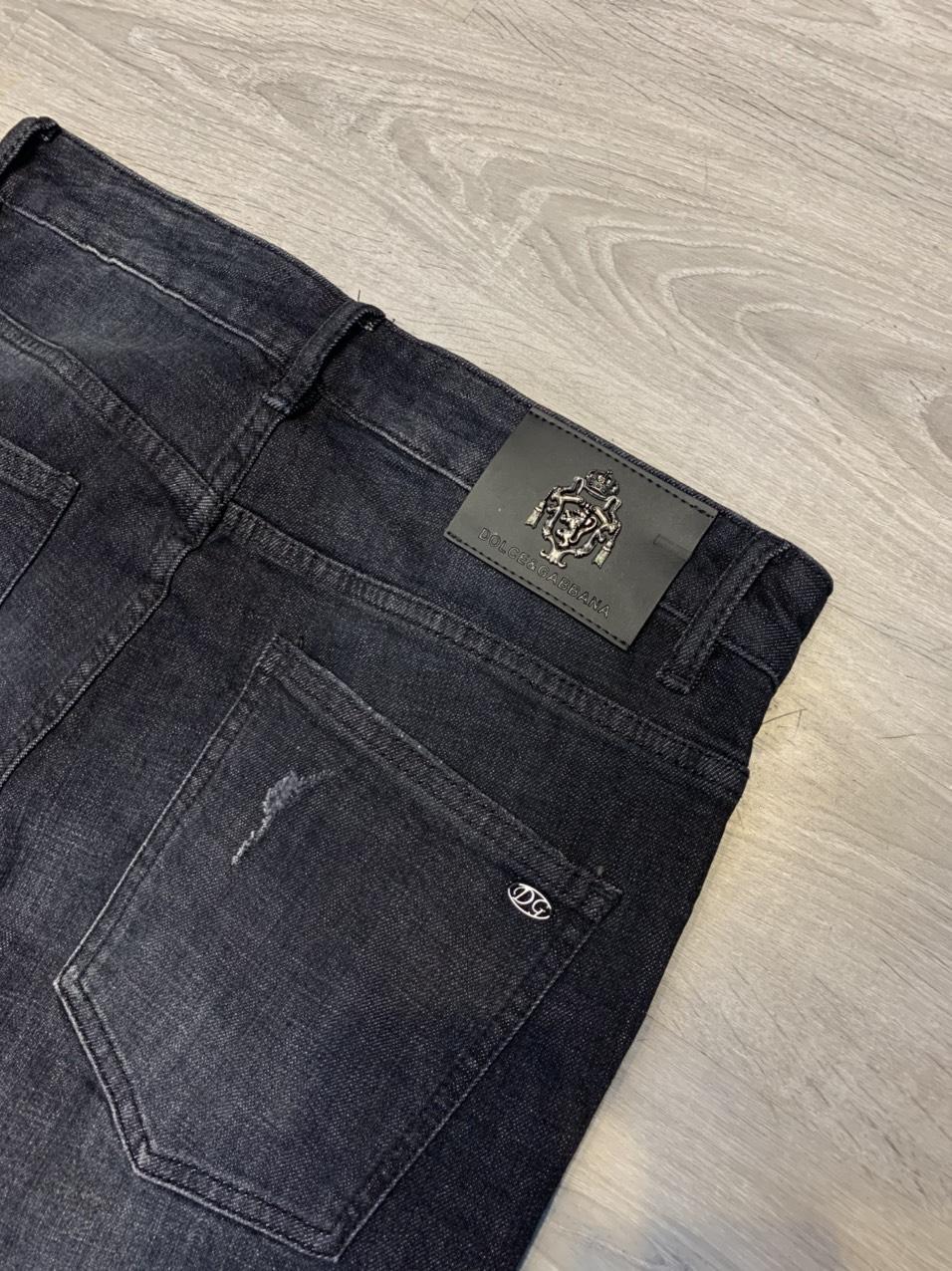 Quần bò Dolce & Gabbana siêu cấp đen xước QNDG03