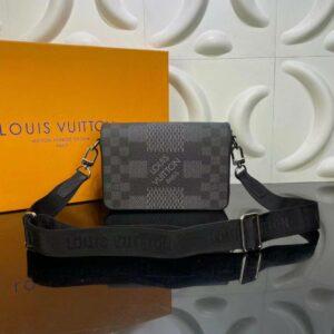 Túi đeo chéo Louis Vuitton like au hoạ tiết caro màu xám TDCLV16