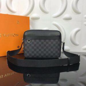 Túi đeo chéo Louis Vuitton like au hoạ tiết caro viền đen TDCLV19