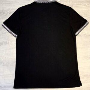 Áo phông Dior full đen họa tiết nhện trắng APD05