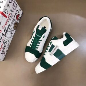 Giày nam Dolce Gabbana siêu cấp họa tiết logo màu xanh trắng GNDG02