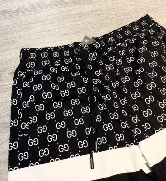 Quần short Gucci siêu cấp full đen logo NY thêu QSG2108