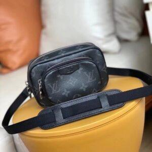 Túi đeo chéo Louis Vuitton like au hoạ tiết hoa đen chéo ngực TDCLV26